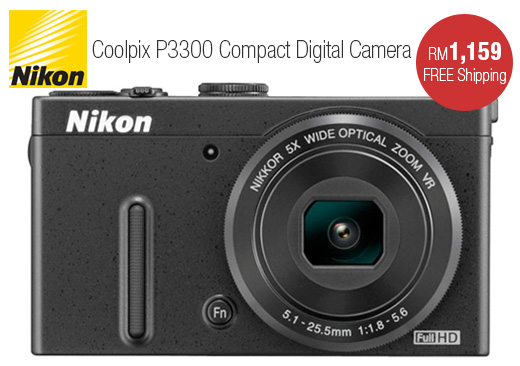 Nikon Coolpix P3300 Compact Digital Camera