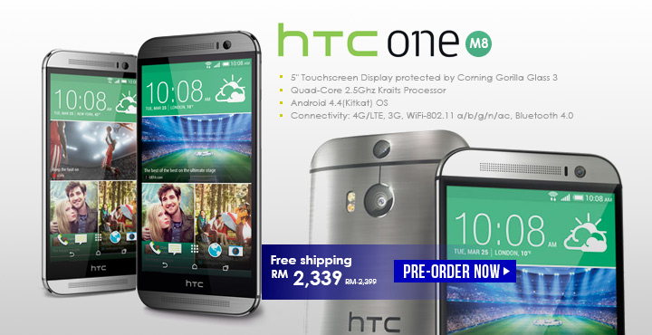 *Pre-Order*HTC One (M8)-Quad-core 2.5 GHz [16GB] LTE