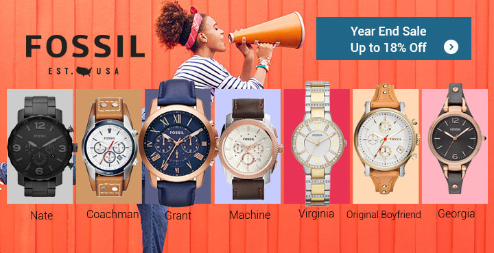 Fossil Year End Sale Up to 18% Off