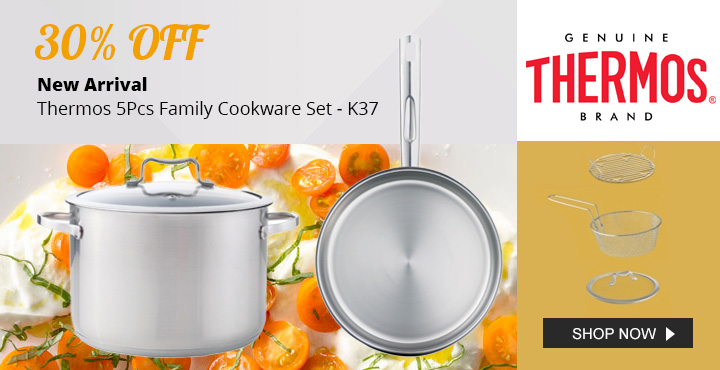 30% OFF New Arrival Thermos 5Pcs Family Cookware Set K37
