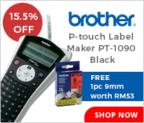 15.5% Off Brother P Touch Label Maker PT 1090 Black