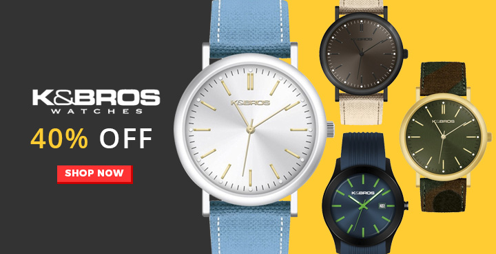 40% Off K & Bros Watches