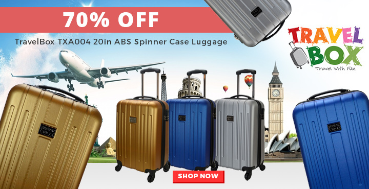 TravelBox TXA004 20in ABS Spinner Case Luggage