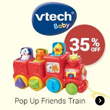 35% Off vtech Pop Up Friends Train