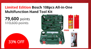 [Limited Edition] Bosch 108pcs All-in-One Multifunction Hand Tool Kit