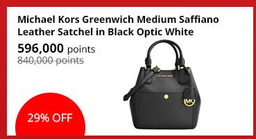 Michael Kors Greenwich Medium Saffiano Leather Satchel in Black Optic White - 30S5GGRT6U