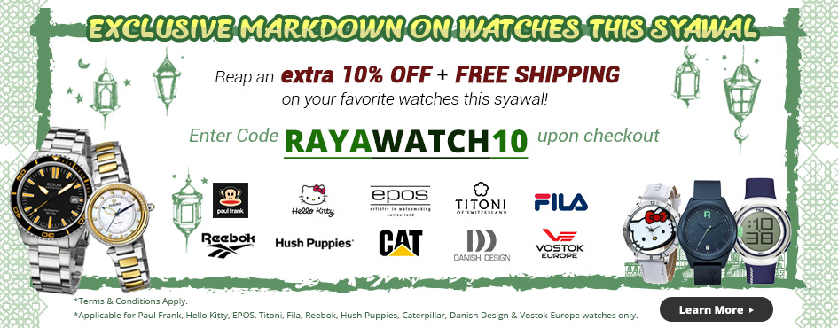Exclusive Markdown On Watches Extra 10% OFF & FREE SHIPPING