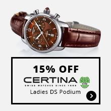 15% Off Certina Ladies DS Podium