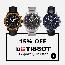 15% Off Tissot T-Sport Quickster
