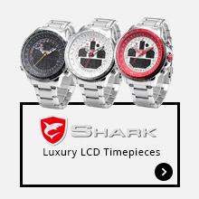 Shark Luxury LCD Timepieces