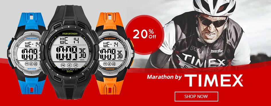 20% Off Marathon By Timex