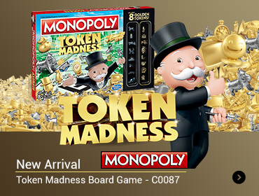 MONOPOLY Token Madness Board Game - C0087