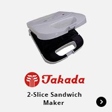 Takada 2 Slice Sandwich Maker