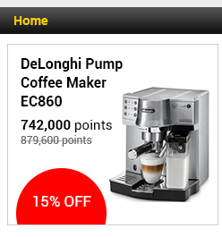 DeLonghi Pump Coffee Maker - EC860