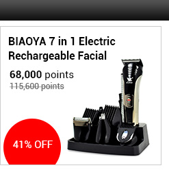 BIAOYA 7 in 1 Electric Rechargeable Facial & Body Precision Grooming System Black Hair Trimmer/Shaver - SNT-B1003