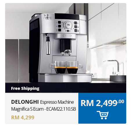 RHB Easy Hero Deals - Delonghi Espresso Machine Magnifica S Ecam - ECAM22.110.SB