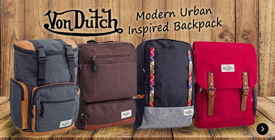 Von Dutch Modern Urban Inspired Backpack