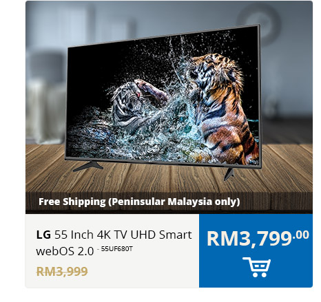 LG 55 Inch 4K TV UHD Smart webOS 2.0 - 55UF680T