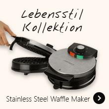 Lebensstil Kollektion Stainless Steel Waffle Maker