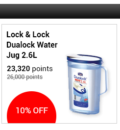 Lock & Lock Dualock Water Jug 2.6L