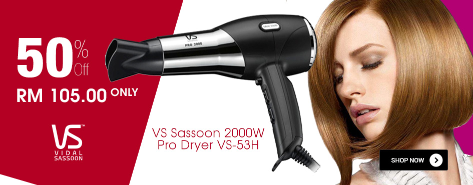 50% OFF VS Sassoon 2000W Pro Dryer VS-53H