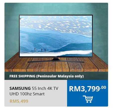 Samsung 55 Inch 4K TV UHD 100hz Smart - UA55KU6000KXXM