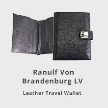 Ranulf Von Brandenburg LV Leather Travel Wallet