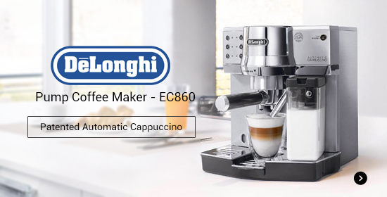 DeLonghi Pump Coffee Maker EC860