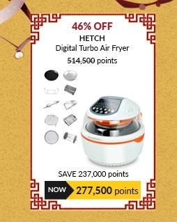 HETCH Digital Turbo Air Fryer - 20 Functions + 10 Accessories - DAF-1720-HC