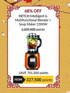 HETCH Intelligent & Multifunctional Blender (Black + Orange) + Soup Maker 2200W - MFB-1602-HC