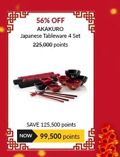 Akakuro Japanese Tableware 4 Set - JK7840