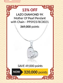 Lazo Diamond 9K Mother Of Pearl Pendant with Chain - PP5923/8C0021