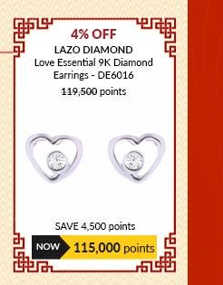 Lazo Diamond Love Essential 9K Diamond Earrings - DE6016