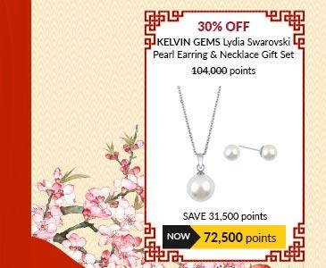 Kelvin Gems Lydia Swarovski Pearl Earring & Necklace Gift Set