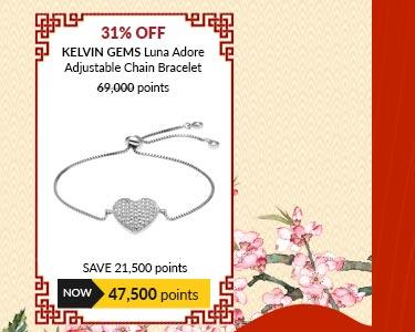 Kelvin Gems Luna Adore Adjustable Chain Bracelet