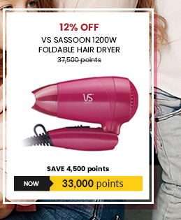 VS Sassoon 1200W Foldable Hair Dryer - VS102PH