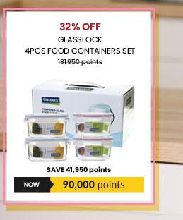 Glasslock 4pcs Food Containers Set