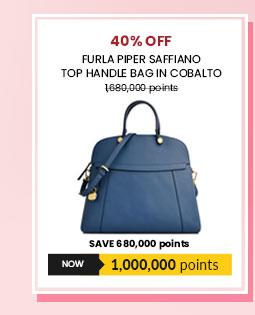 Furla Piper Saffiano Top Handle Bag in Cobalto