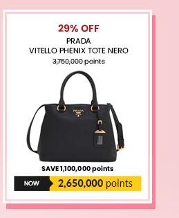 Prada Vitello Phenix Tote Nero - 1BA058
