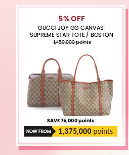 Gucci Joy GG Canvas Supreme Star Tote / Boston (each)
