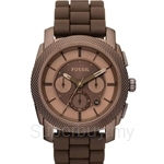 Fossil Men's Machine Brown Stainless Steel and Silicone Watch - FS4702