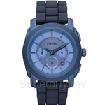 Fossil Men's Machine Blue Stainless Steel and Silicone Watch - FS4703