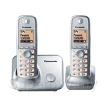 Panasonic KX-TG6612MLS Eco DECT Phone - Expandable Twin Pack
