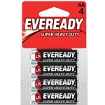 Eveready Carbon Zinc Super Heavy Duty Batteries AA 1.5 V