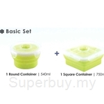 Oasis Basic 2 Pcs Silicone Food Container Set