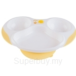 PiyoPiyo Slip-Proof Three-section Dining Plate - 630105