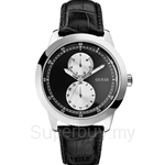 Guess W75065G1 Gents Dress Black Leather Day Date Watch