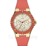 Guess W10614L1 Ladies Sport Pink Silicone Strap Multifunction Watch