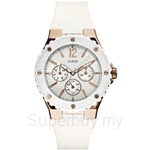 Guess W10614L2 Ladies Sport White Silicone Strap Multifunction Watch