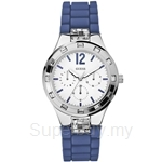 Guess W10615L3 Ladies Sport Blue Silicone Multifunction Watch